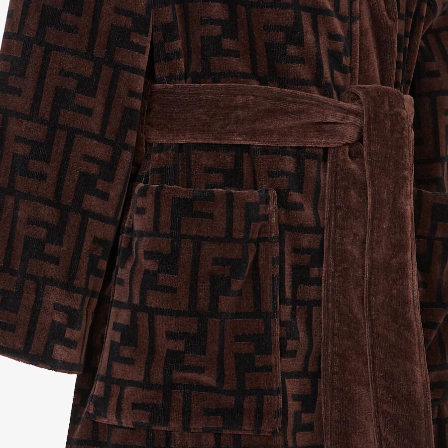 FENDI 浴袍 - 棕色棉質浴袍 - view 3 detail