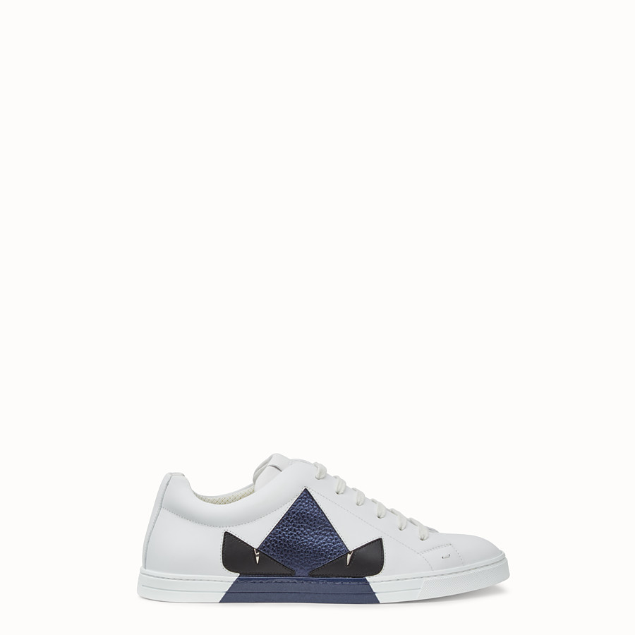 FENDI 運動鞋 - 白色皮革低筒鞋 - view 1 detail