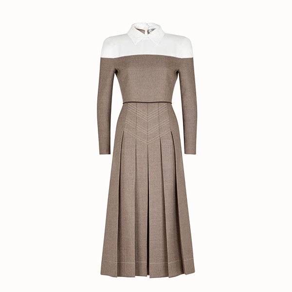 FENDI DRESS - Grisaille wool dress - view 1 small thumbnail