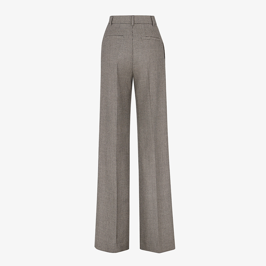 FENDI TROUSERS - Brown wool trousers - view 2 detail