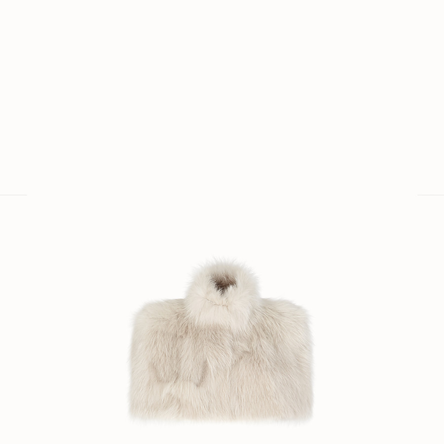 FENDI CAPE - White fur cape - view 1 detail