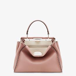 FENDI PEEKABOO ICONIC MEDIUM - Pink leather bag - view 1 thumbnail