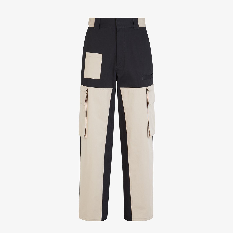 FENDI TROUSERS - Multicolour gabardine trousers - view 1 detail