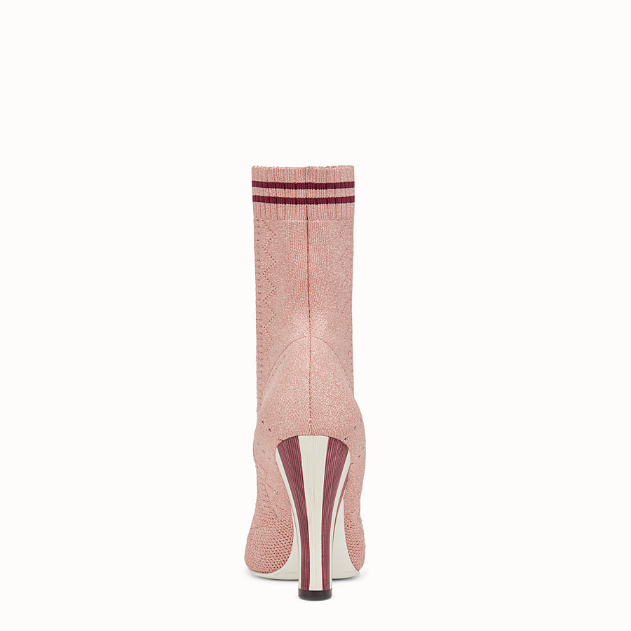 FENDI BOOTS - Pink fabric boots - view 3 detail