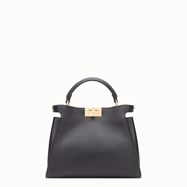 FENDI PEEKABOO ICONIC ESSENTIALLY - Black leather bag - view 1 small thumbnail