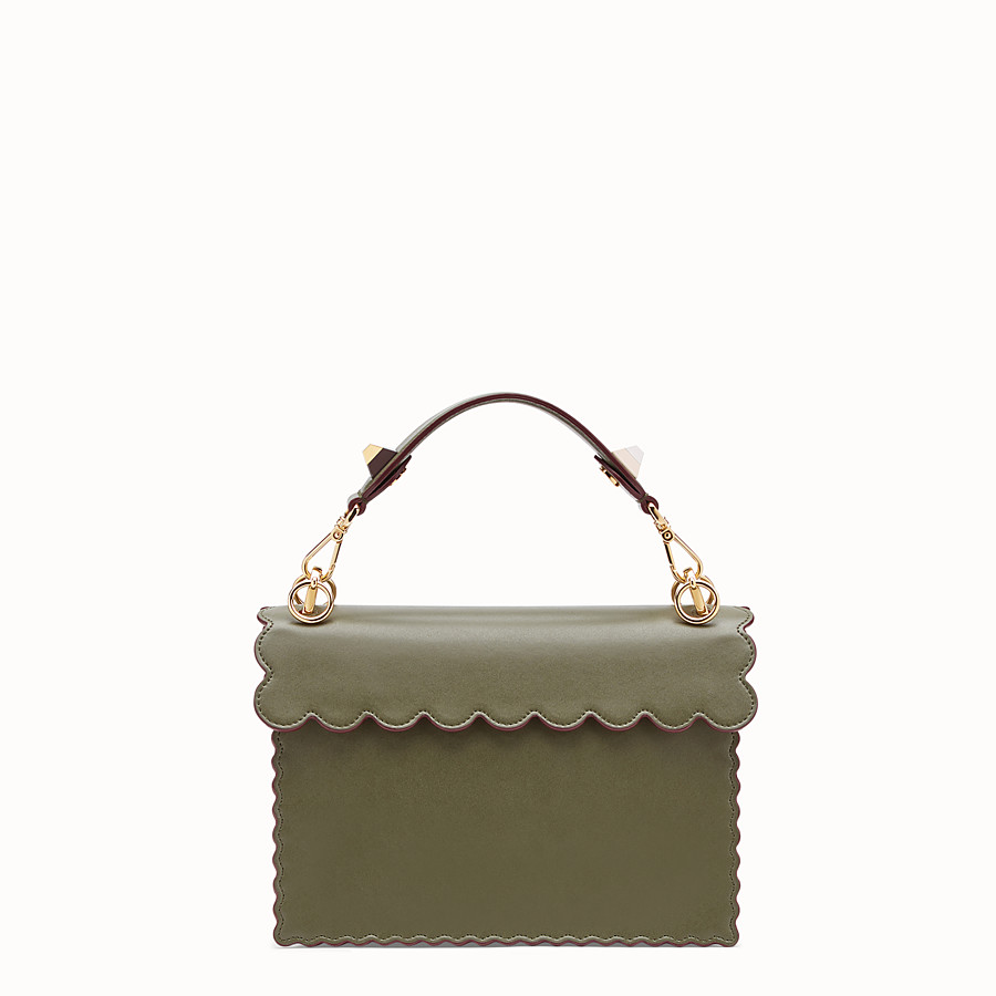 FENDI KAN I - Green leather bag - view 3 detail
