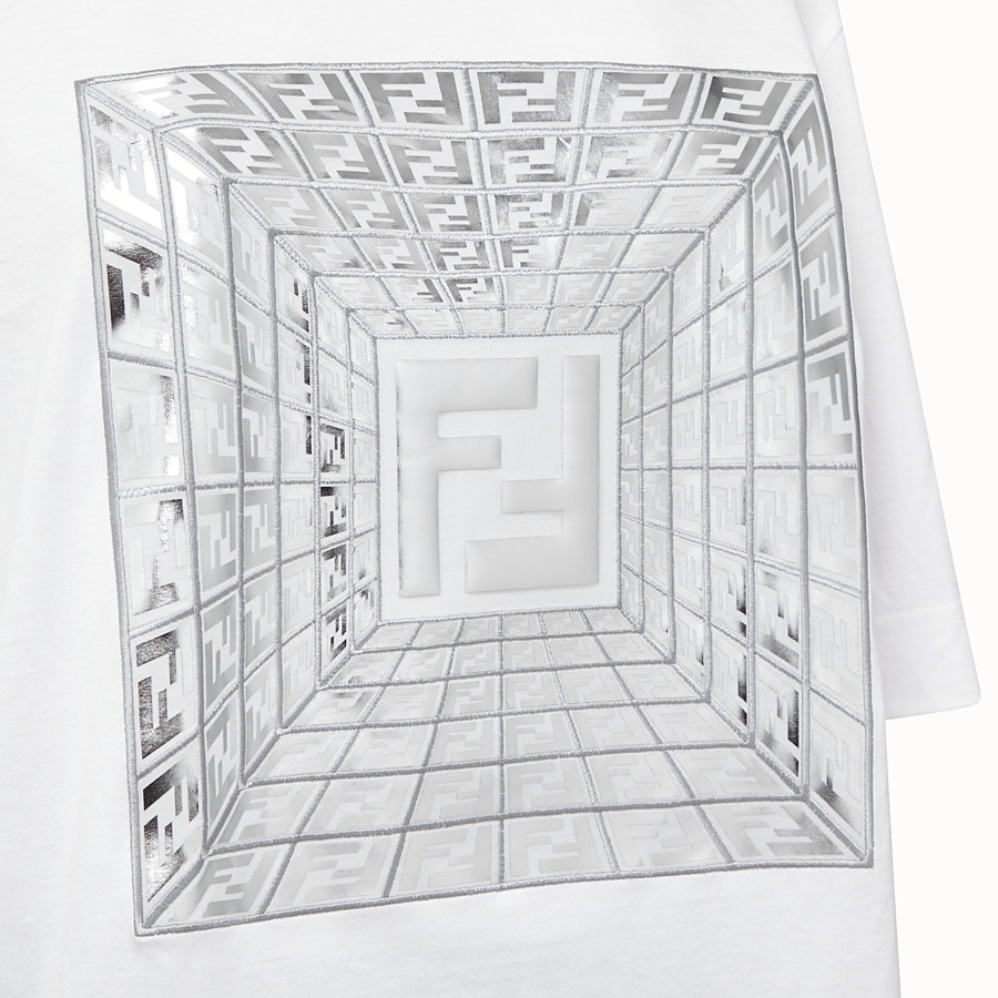 FENDI T-SHIRT - Fendi Prints On cotton T-shirt - view 3 detail