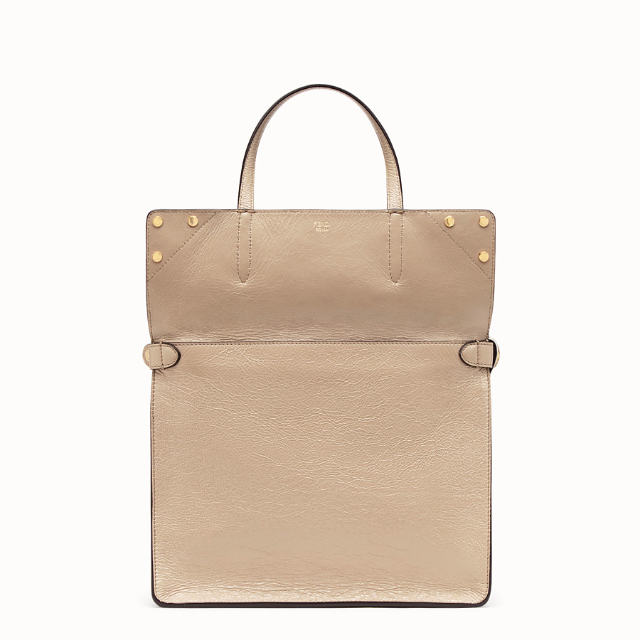 FENDI FENDI FLIP LARGE - Beige leather bag - view 3 detail