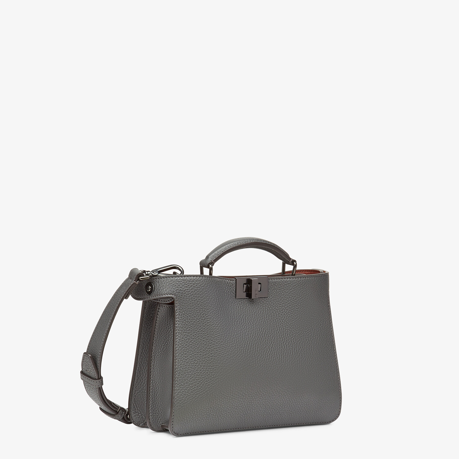 FENDI PEEKABOO ISEEU MINI - Gray leather bag - view 3 detail