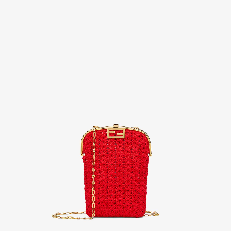 FENDI BAGUETTE PHONE BAG - Red fabric mini-bag - view 1 detail
