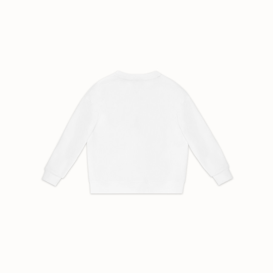 FENDI FENDI MANIA SWEATSHIRT - White cotton sweatshirt - view 2 detail