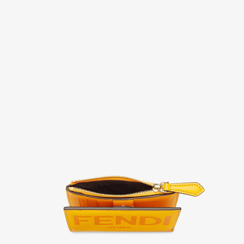 FENDI 財布 ミディアム - オレンジレザー 財布 - view 3 detail
