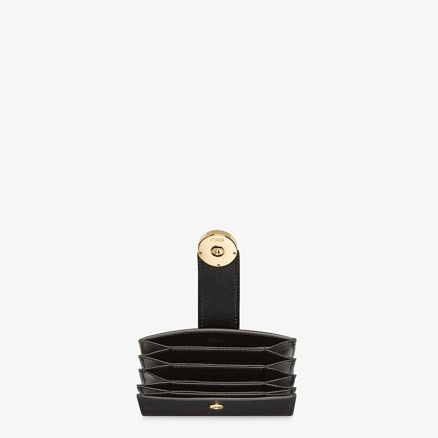 FENDI CARD HOLDER - Black leather gusseted card holder - view 4 detail
