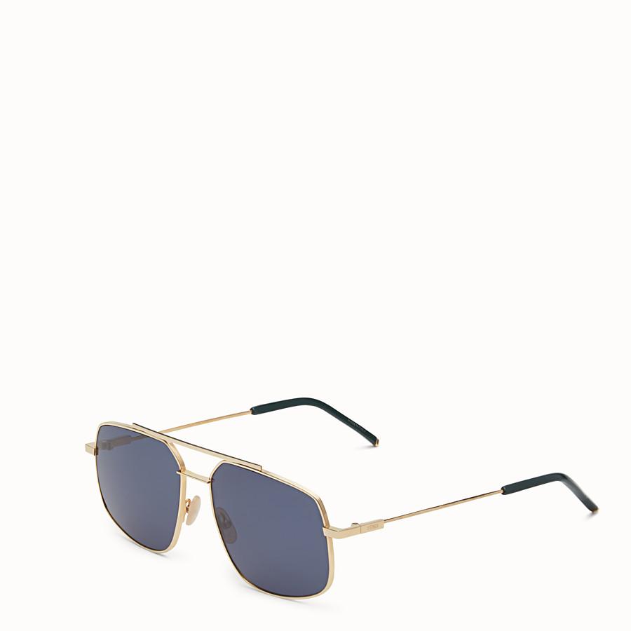FENDI FENDI AIR - 玫瑰金色方形太陽眼鏡 - view 2 detail