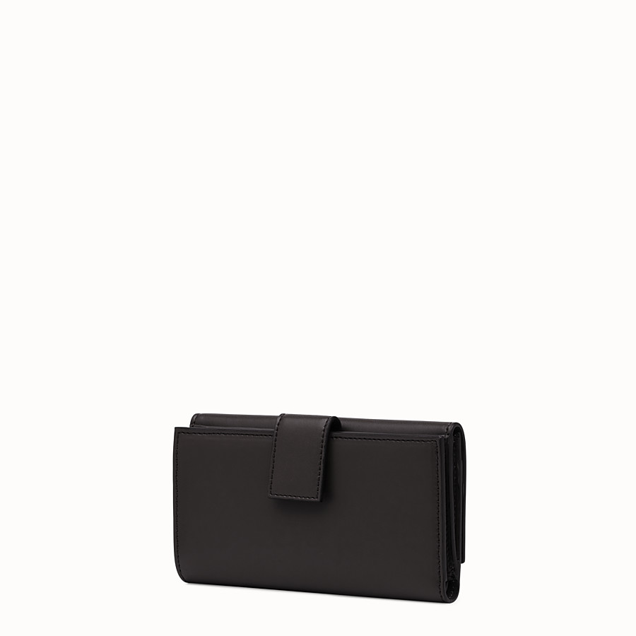 FENDI WALLET - Slim continental wallet in black leather - view 2 detail