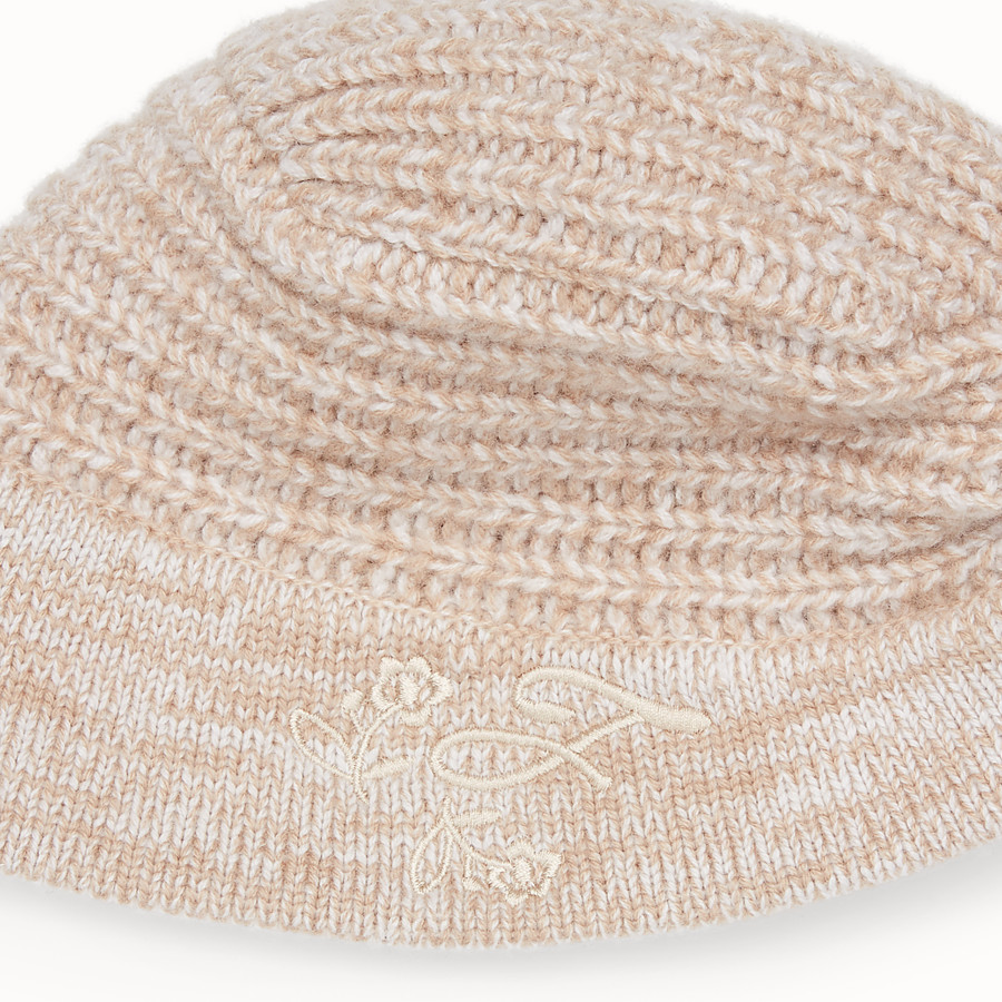 FENDI HAT - Beige cashmere hat - view 2 detail