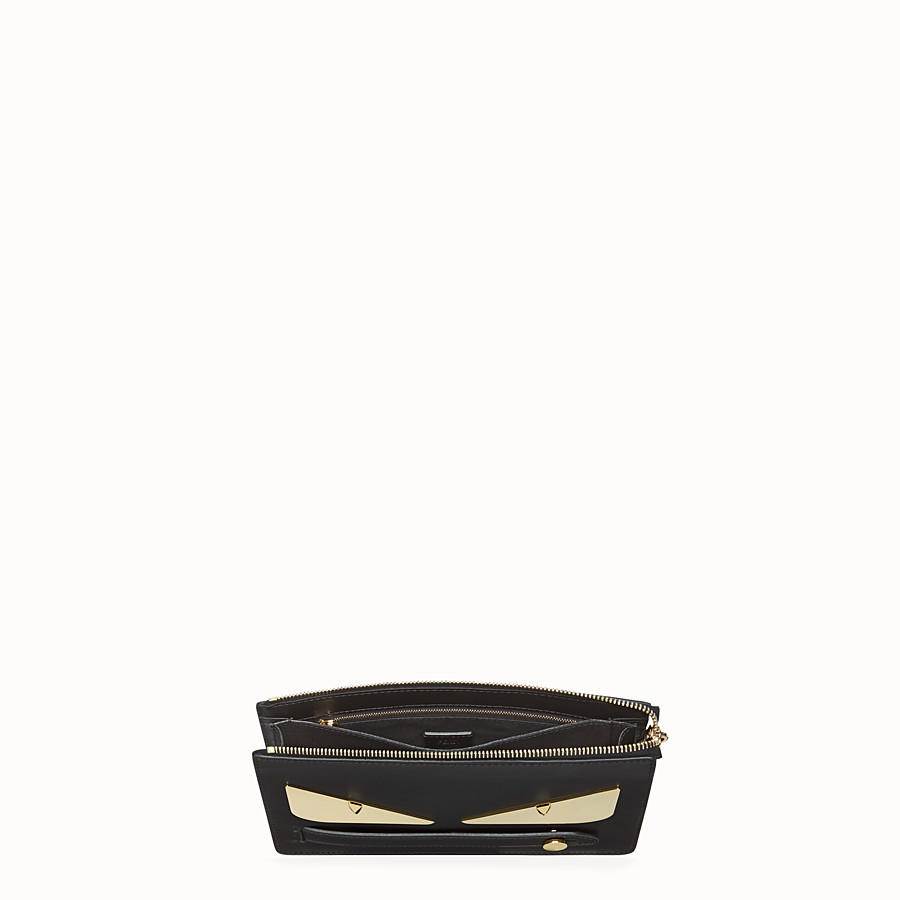 FENDI CLUTCH - Black leather pochette - view 4 detail
