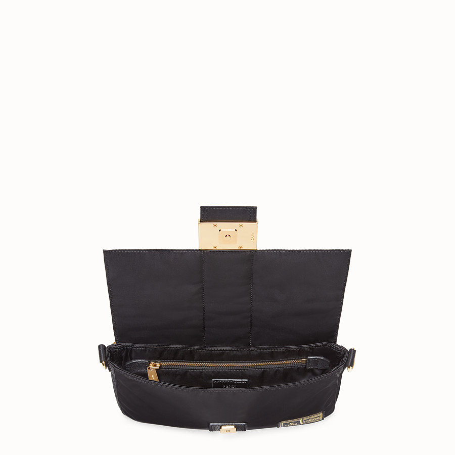 FENDI BAGUETTE FENDI AND PORTER - Black nylon bag - view 4 detail