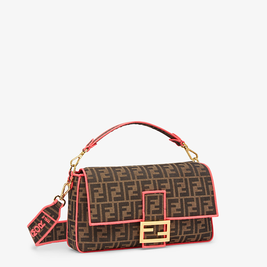 FENDI BAGUETTE LARGE - Fendi Roma/Amor fabric bag - view 2 detail