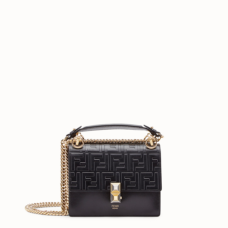 f9fe30dec6d5 Black leather mini-bag - KAN I SMALL