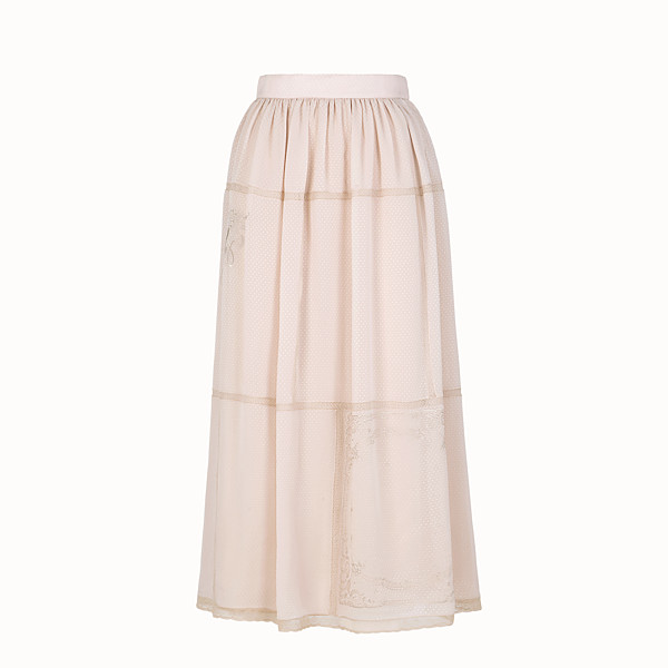 FENDI SKIRT - Pink cotton skirt - view 1 small thumbnail