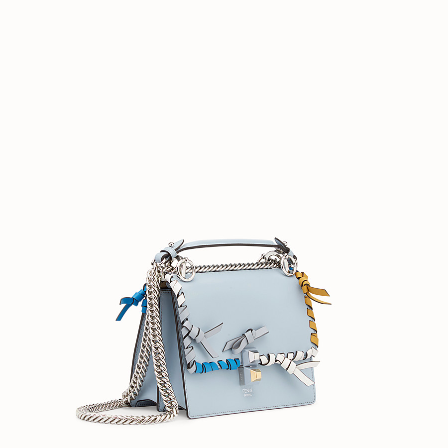 FENDI KAN I SMALL - Minisac en cuir bleu clair - view 2 detail