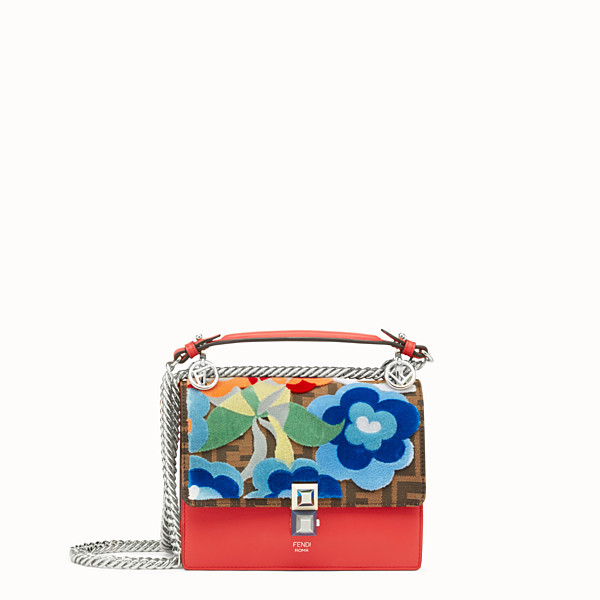 FENDI KAN I SMALL - Minisac en cuir rouge - view 1 small thumbnail
