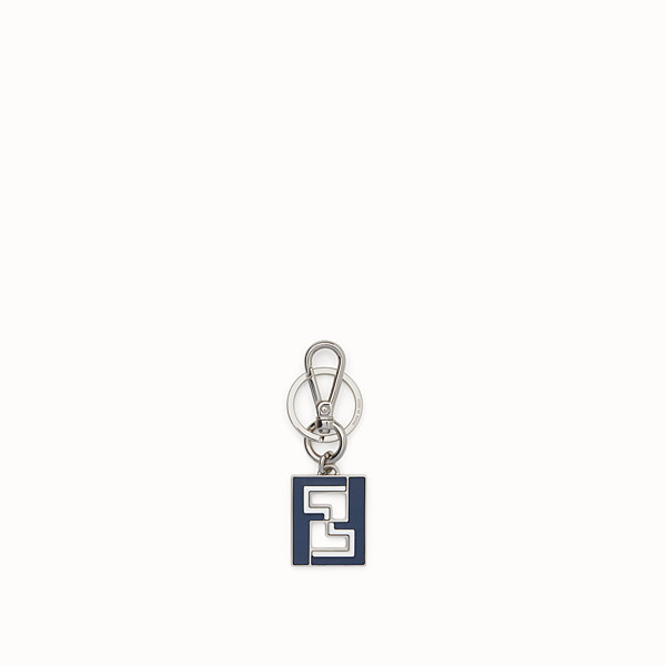 FENDI KEY RING - Blue metal key ring - view 1 small thumbnail