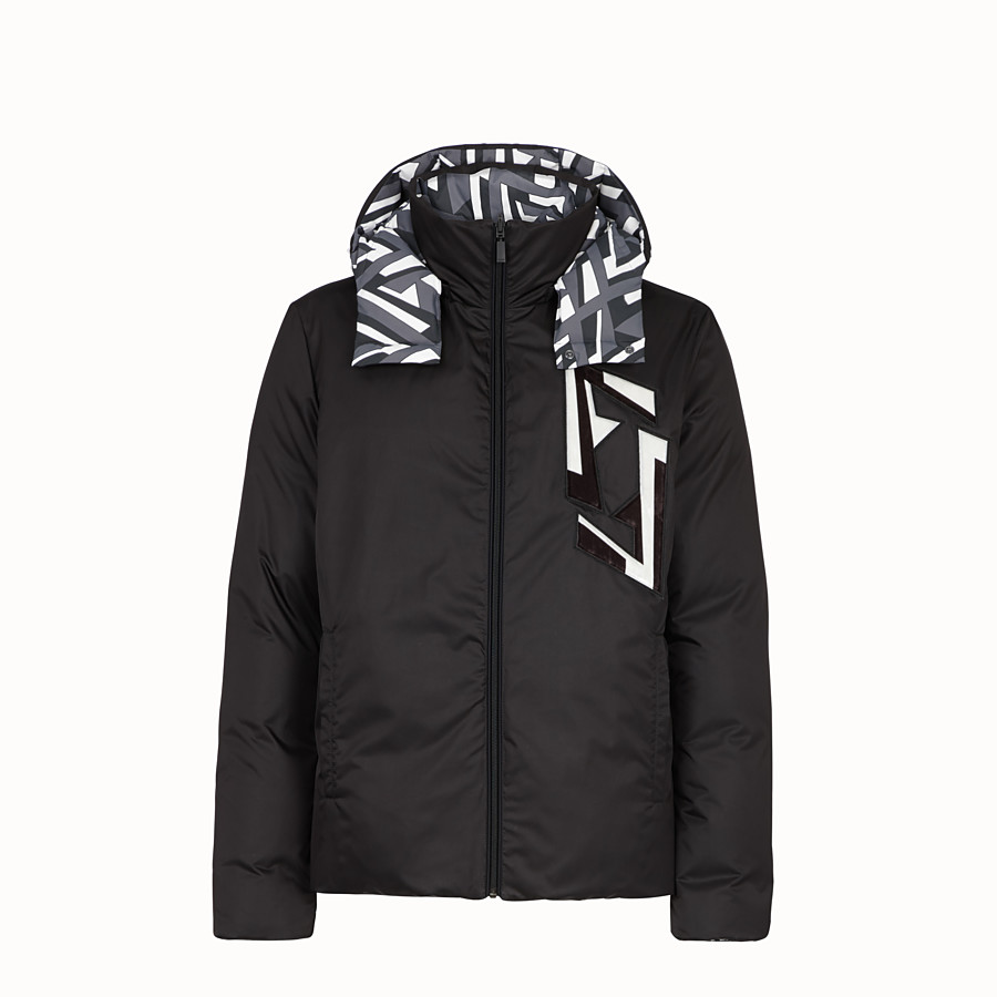 FENDI DOWN JACKET - Black tech fabric down jacket - view 4 detail