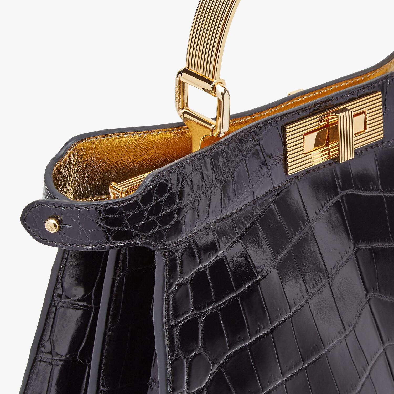 FENDI PEEKABOO ISEEU MEDIUM - Black crocodile leather bag - view 7 detail
