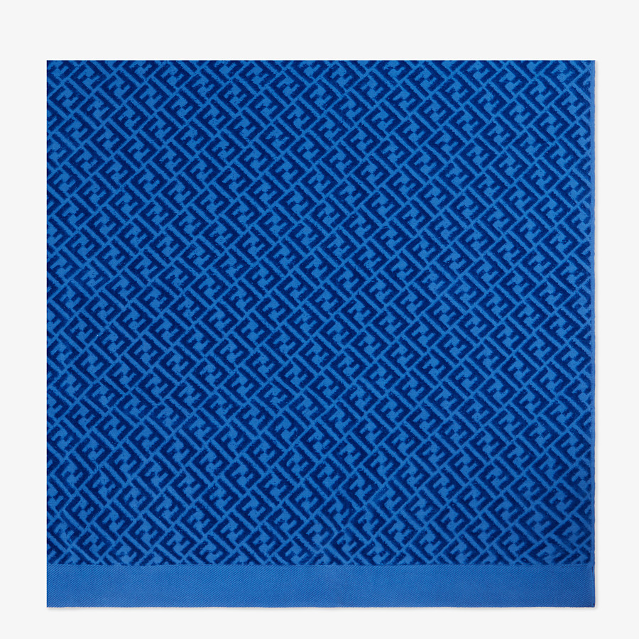 FENDI BEACH TOWEL - Blue cotton beach towel - view 3 detail