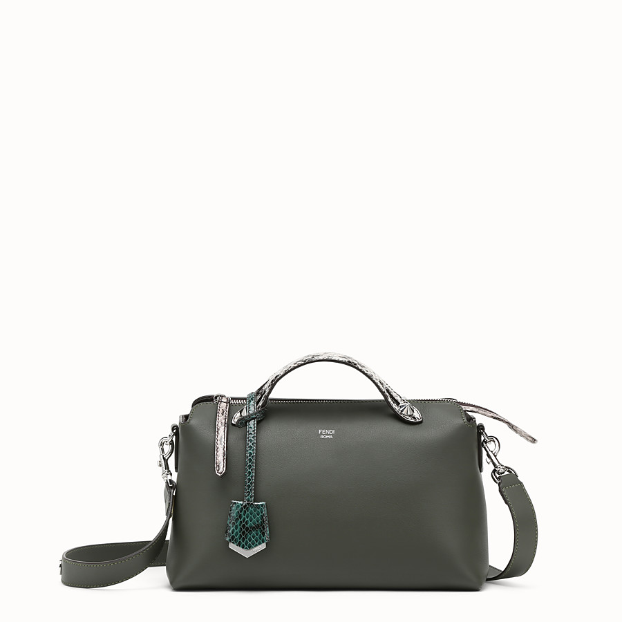 FENDI BY THE WAY REGULAR - Grass green leather Boston bag - view 1 detail