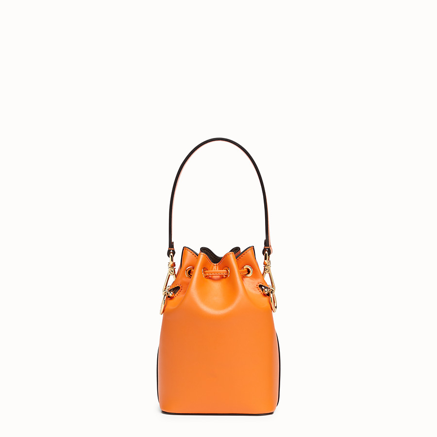 FENDI MON TRESOR - Orange leather mini-bag - view 3 detail
