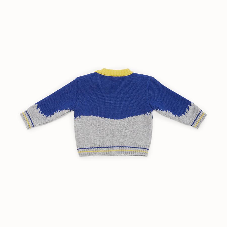 FENDI JUMPER - Pull pour bébé garçon en laine mélangée grise et multicolore - view 2 detail