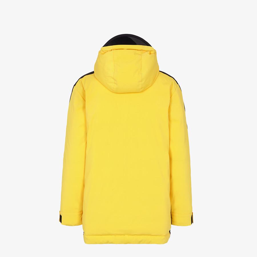 FENDI SKI JACKET - Ski jacket in yellow tech nylon - view 2 detail
