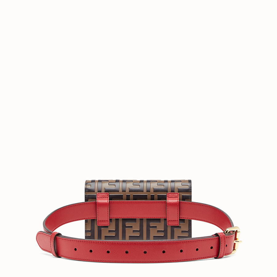 FENDI BELT BAG - Red leather belt bag - view 3 detail
