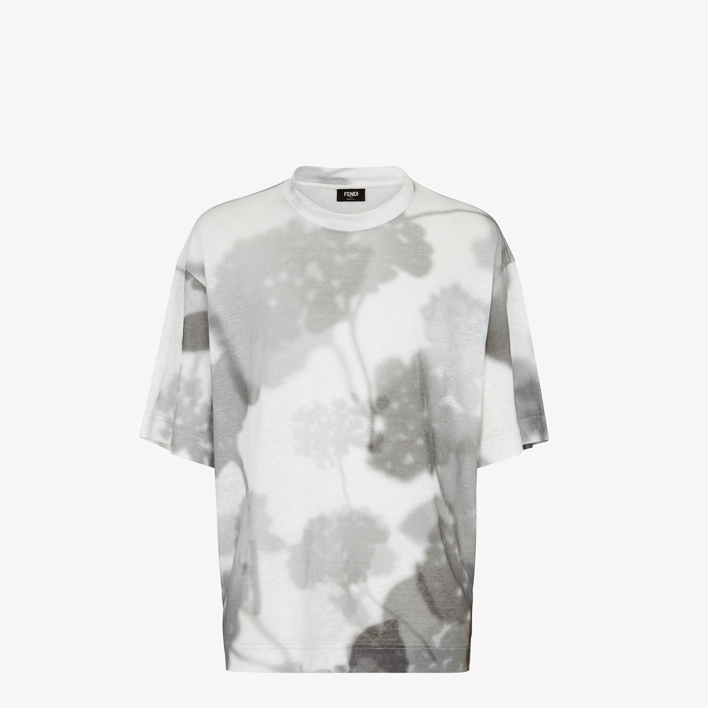 FENDI T-SHIRT - White linen T-shirt - view 1 detail