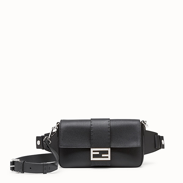 FENDI BAGUETTE - Black calf leather bag - view 1 small thumbnail