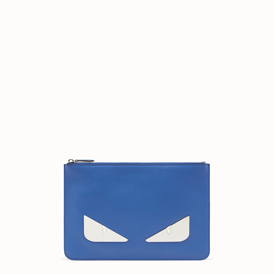 FENDI POUCH - Blue leather pouch - view 1 detail