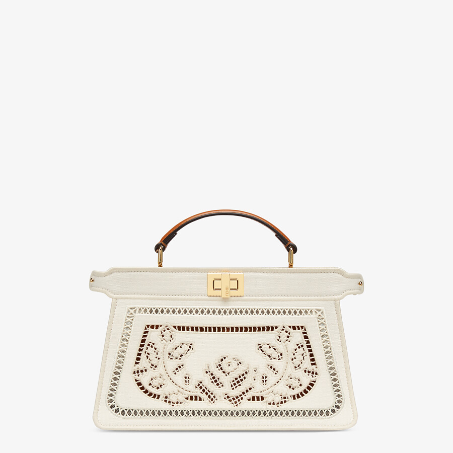 FENDI PEEKABOO ISEEU EAST-WEST - Canvas bag with embroidery - view 1 detail