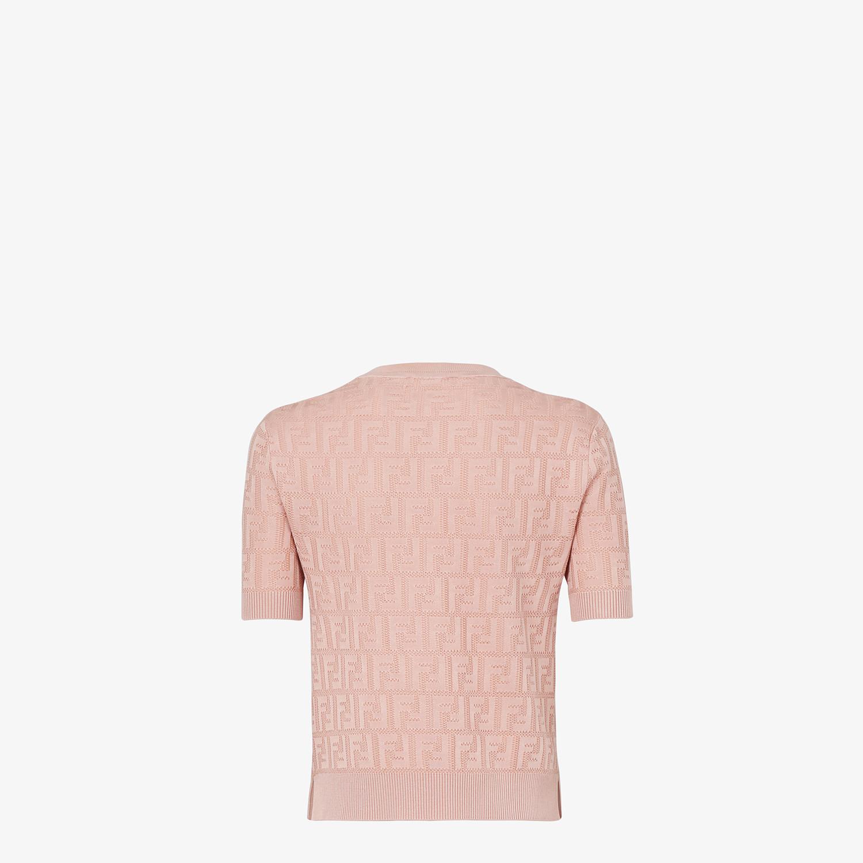 FENDI SWEATER - Pink viscose sweater - view 2 detail