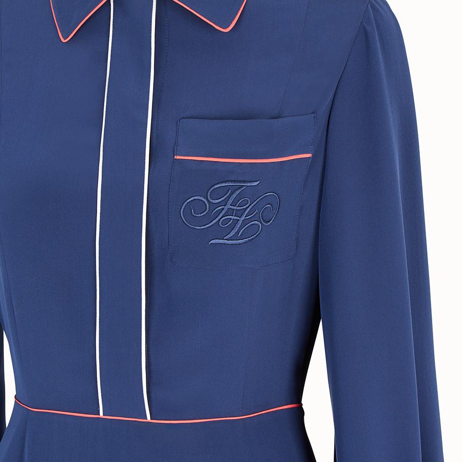 FENDI DRESS - Blue silk dress - view 3 detail