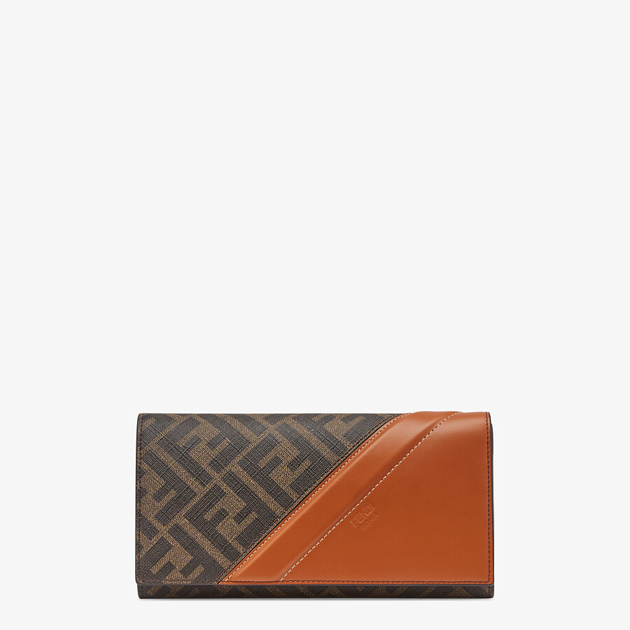 FENDI CONTINENTAL - Brown fabric wallet - view 1 detail