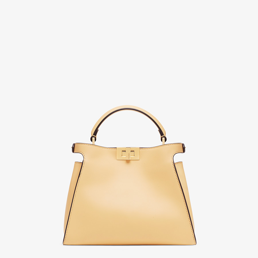 FENDI PEEKABOO ICONIC ESSENTIALLY - Yellow leather bag - view 3 detail