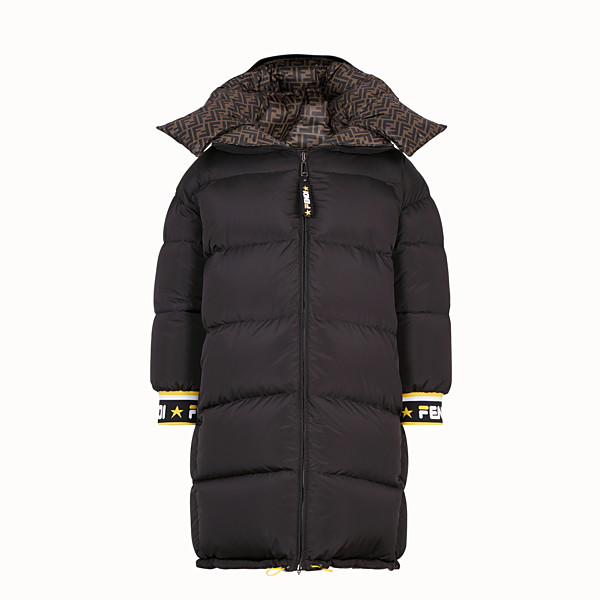FENDI LONG DOWN JACKET - Multicolour padded down jacket - view 1 small thumbnail