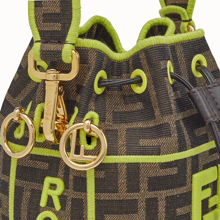 FENDI MON TRESOR - Fendi Roma Amor fabric mini-bag - view 5 detail