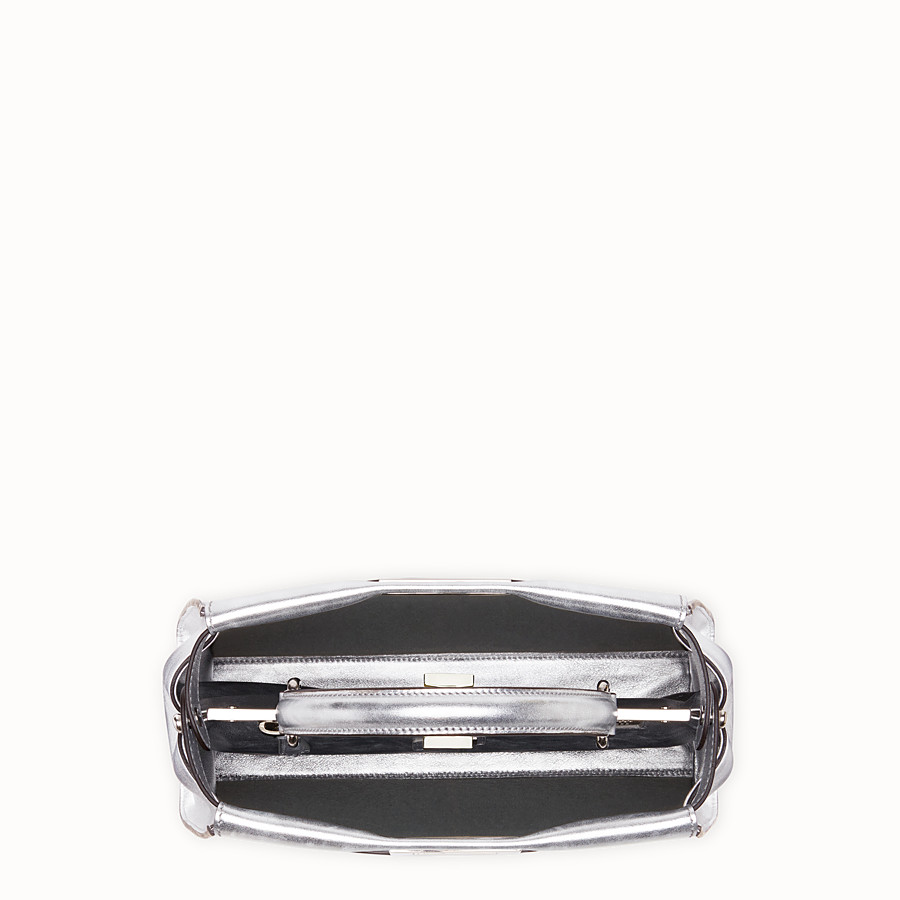 FENDI PEEKABOO ICONIC MEDIUM - Silver leather bag - view 4 detail