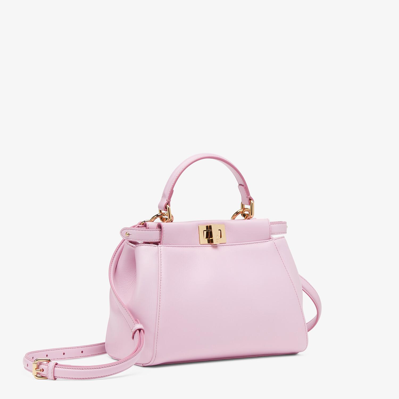 FENDI PEEKABOO MINI - Pink nappa leather bag - view 2 detail
