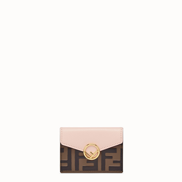 FENDI MICRO TRIFOLD - Brown leather wallet - view 1 small thumbnail