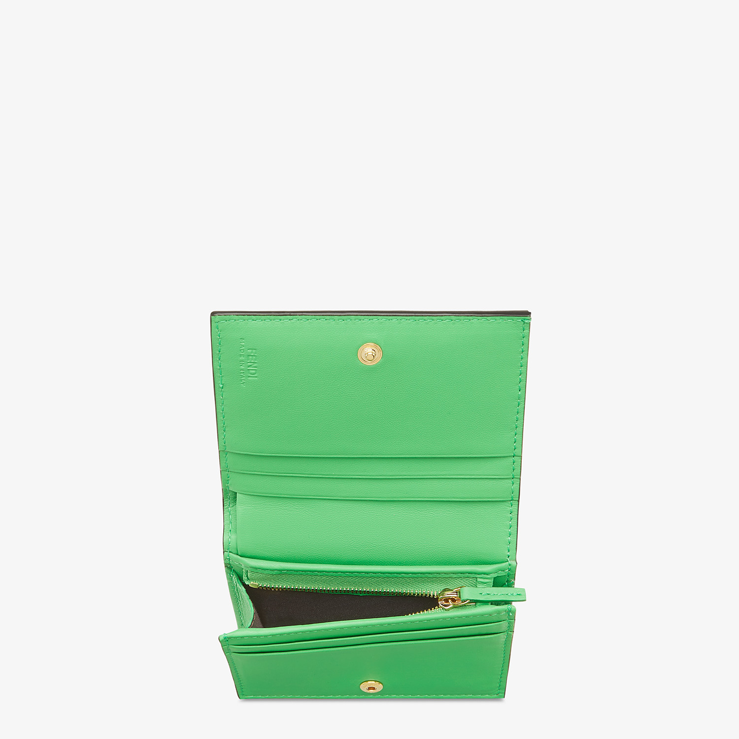FENDI SMALL WALLET - Green nappa leather wallet - view 3 detail